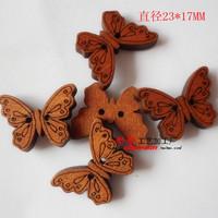 Deep Brown Animals wooden buttons bulk wood button mixed for crafts Home decor Diy Accessories 100pcs/lot E-30