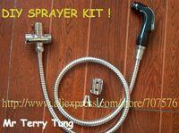 Free Shipping Handheld Portable bidet faucet Diaper Sprayer Shattaf TS078D-KIT- Shattaf head+hose+bracket+T valve+fitting parts