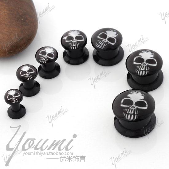 Ear-font-b-expansion-b-font-device-black-glue-skull-font-b-female