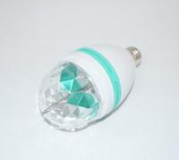 30PCS/Lot E27 Colorful Rotating RGB LED 3W Spot Light Bulb Lamp Stage light crystal magic ball