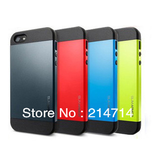 New Arrival!  SLIM ARMOR SPIGEN SGP Case Color Cover For iphone 5 5s case luxury Free Shipping