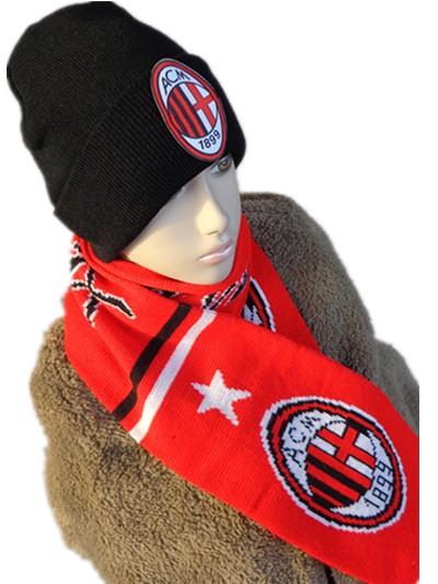 AC Милан акриловый трикотаж носить шарф