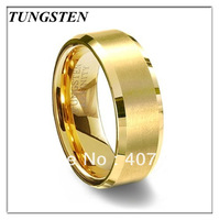 2013 Hot Selling 18K Gold Plating Tungsten Carbide Ring Wedding Ring Men's Ring Wholesale Price