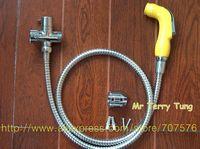 Free Shipping Handheld Portable bidet faucet Diaper Sprayer Shattaf TS078B-KIT- Shattaf head+hose+bracket+T valve+fitting parts
