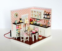 Diy delicious time woode doll toy house for kids gift