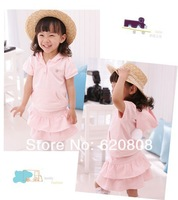 Free shipping 2013  children's clothing girls spring summer children suit angel baby clothes baby casual two-piece