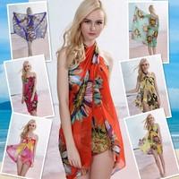 Beach bikini dress big yarn swimwear big mantillas beach towel yarn skirt