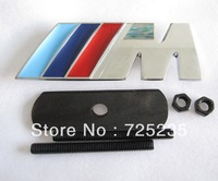 Free Shipping ///M 3D Metal Front Hood Grille Badge Grill Emblem Auto Stickers Car LOGO For BMW