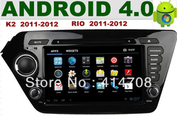 Android 4.0 8 inch car dvd gps for kia K2 2011-2012 RIO 2011-2012 +steering wheel control+PIP+A2DP+MAP+IPOD+PHONEBOOK(China (Mainland))