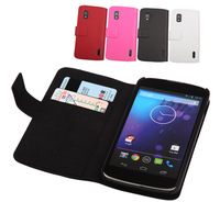 For google nexus 4 protective case,Genuine leather flip case cover for google nexus 4,Original doormoon brand,free shipping