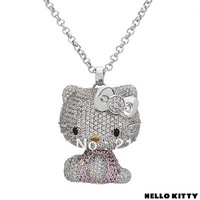 Min.order is $10 new style full body big size in purple color Hello Kitty jewelry pendant necklace J00053 free shipping
