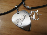 Free shipping! Handmade pick necklace Adam lambert Signature