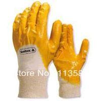 Freeshipping Deltaplus 100% Glue Cotton Nitrile Rubber Coating Gloves Oil Wear-resistant Slip-resistant Gloves
