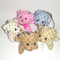 40pcs/Lot <5.5CM 5color Mixed> Begger Bear Plush Pendant Toys Key/Phone/Jewelry/Bag Pendants Gifts