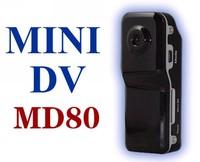 Free shipping 1pcs Black Sports Video Camera MD80 Webcam web Cam Hot Selling Mini DVR Camera & Mini DVera & Mini DV