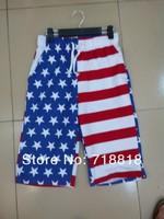 2013 summer TRUKFIT fashion leisure men beach pants hiphop US flag surfing beach pants whole network exclusive