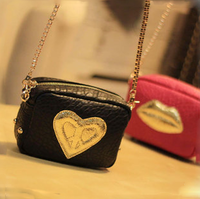 2013 women's handbag fashion street punk rivets bag heart messenger bag chain handbag women's bag