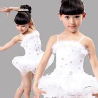 [10pcs/free ship] Female dance costume child clothes child Latin dance skirt clothes children's ballet puff skirt baby tutu