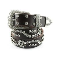 Strap female fashion all-match women's rhinestone decoration wide belt women's  full rhinestone cowhide belt