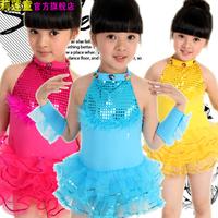 [10pcs/free ship] Child paillette costume female child ballet wings tulle dress feather princess dress christmas tutu