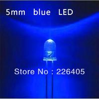 1000pcs 5mm Blue LED Lamp round blue Light Emitting Diode cool blue 5500-7000k free shipping