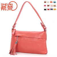2013 women's genuine leather  tassel small  female shoulder bags