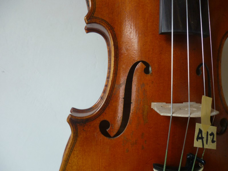 antique old style violin ,A12 Top Grade violin 4/4 Strad model 1716 ,1pc back(China (Mainland))