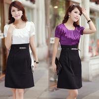office lady ol slim formal short-sleeve dress slim