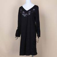 Top 100% cotton comfortable sexy spaghetti strap nightgown jj1464