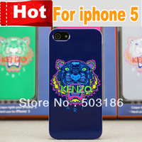 2013 New arrival Fashion Tiger Cartoon pattern hard cover case For iphone4 4s iphone 5 5s,Free Shipping