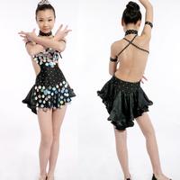 [10pcs/free ship]  Latin dance skirt Latin skirt performance wear Latin costume clothing Latin dance competition 11041