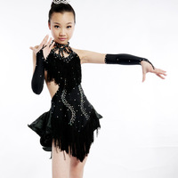 Latin service Latin dance performance wear clothing child Latin competition dance Latin dance skirt 1160
