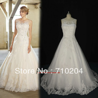 Free Shipping vintage new model wedding dress real pictures NS128