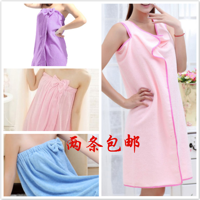 Promotional Bath skirt tube top female magicaf towel bathrobe bathrobes robe toweled 100% cotton bamboo fibre Special offer(China (Mainland))