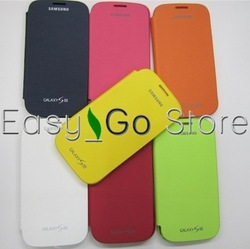 50pcs Battery Housing Flip Leather Case Cover For Samsung Galaxy S3 SIII i9300,Fedex EMS DHL Free Shipping(China (Mainland))