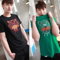 3d shirt  short-sleeve T-shirt cartoon tiger print cotton t shirt slim male short-sleeve clothes  giv shirt desgin