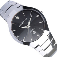tungsten steel watches male quartz Fashion watch mens engrwolf ak600