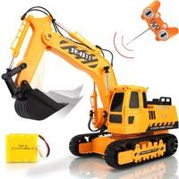 6 channel super large remote control excavator wireless charge remote control engineering car mining machine toy