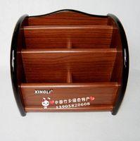 5032 wooden remote control storage box multifunctional desktop stationery crude storage debris storage rack