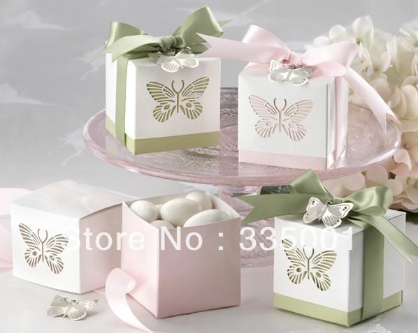 Wedding Gift Boxes For Sale : sale 120pcs/LOT Wedding favor box Laser cut Butterfly Favor Box Boxes ...
