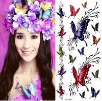 Free shipping Tattoo stickers waterproof female butterfly glitter belt 38 10
