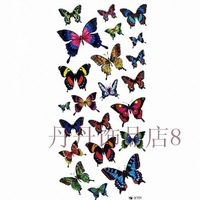 Free shipping Tattoo stickers female waterproof butterfly glitter belt series x191