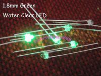100pcs/Lot, New 1.8mm Green Bright Water Clear LED 12,000mcd Leds 2-Pin Free Shipping