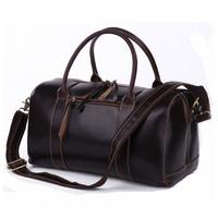 Vintage 100% Genuine real leather Men buiness handbag laptop  shoulder Travel bag / man luggage bag  JMD7165Q-435