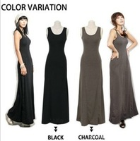 Fashion Dress Women's Cotton Long Style Sleeveless Vest Dress For Spring/ Summer/Autumn Many Color Wholesale and Retail
