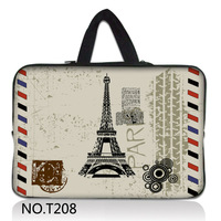"Romantic Paris Eiffel Tower 14"" inch 14.1"" Notebook Laptop Sleeve Bag Case Cover + Handle For HP Sony Dell"