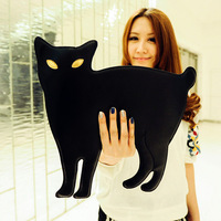 Cat black summer clutch animal style lucky chain bag handbag women's queen