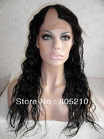 FREE SHIPPING u part wig 20inches color #1B Natural wave