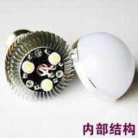 Led energy saving bulb lamp bright high power downlight light source e27 white lamp cover spiral