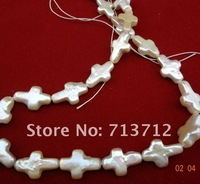 PROMOTION ABOUT 10*15MM BAROQUE CROSS SHAPE PEARL STRING PEARL NECKLACE BCPQXL006